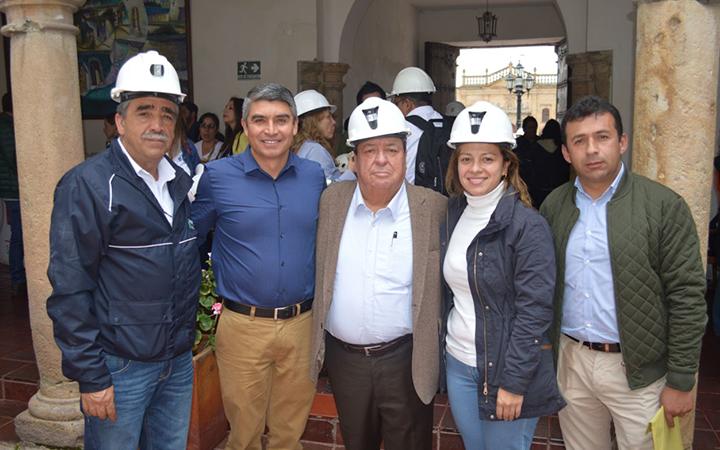 Alcalde de Samacá junto a empresario Miguel Parra.