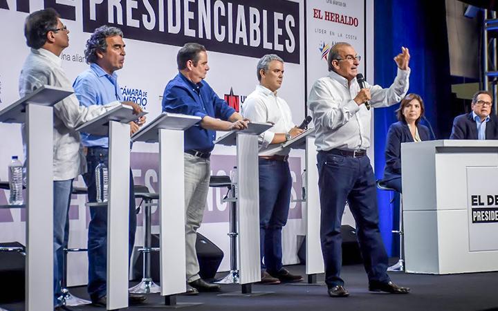 Los candidatos presidenciales han asistido a debates en las principales ciudades del país.