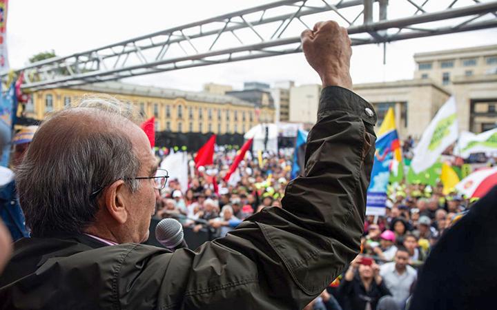 Humberto de la Calle asumió la defensa del proceso de paz durante la campaña.