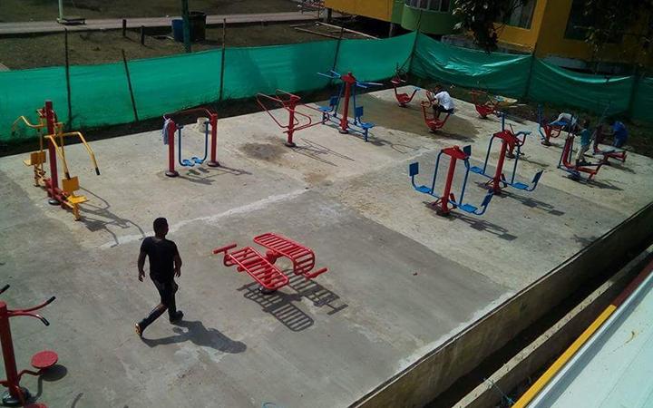 Gimnasio al aire libre, proyecto realizado.