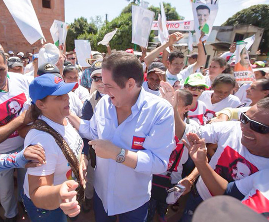 Germán Vargas Lleras llega a la recta final con el apoyo de los principales partidos tradicionales.