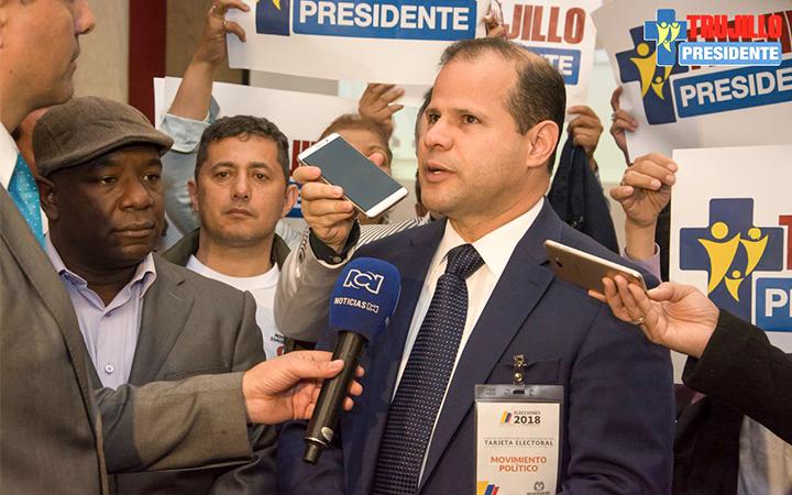 El candidato del movimiento político Todos Somos Colombia, Jorge Antonio Trujillo Sarmiento.