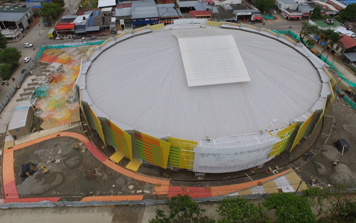 Con el apoyo del Gobierno Departamental se logra la adecuación y remodelación del Coliseo en nuestro municipio.