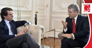 Es importante que el mundo vea la 'ejemplar humanidad' con que Colombia está afrontando la crisis migratoria venezolana: expresidente Aznar