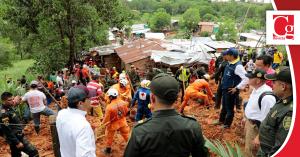 Comienzan las labores de asistencia humanitaria por alud de tierra en Barrancabermeja