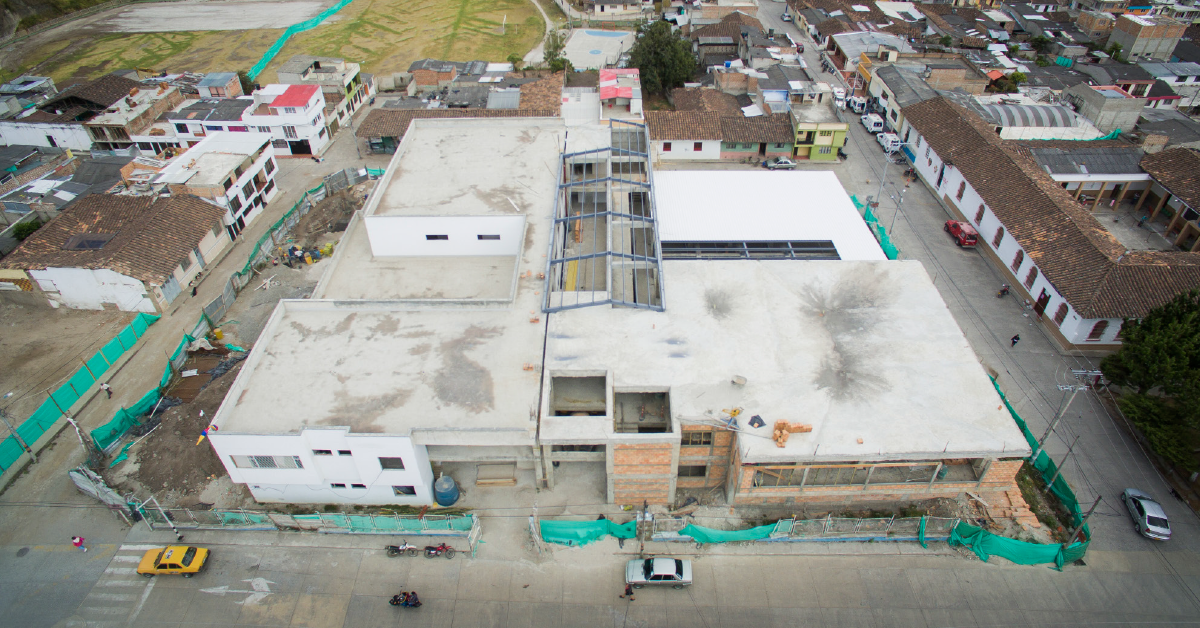 El Hospital El Buen Samaritano ya está en construcción. Palacios confía en entregarlo a principios de 2019.