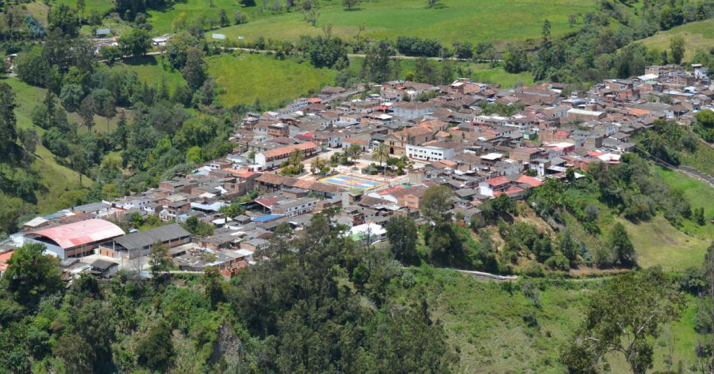 Panorámica de Chiscas, ubicado en el norte de Boyacá.