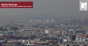 Declarada alerta naranja en Bogotá por mala calidad de aire