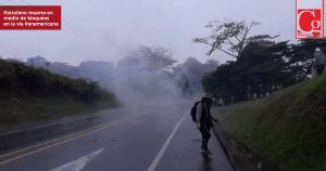 Enfrentamientos entre Policía e indígenas en la vía Panamericana deja un patrullero muerto