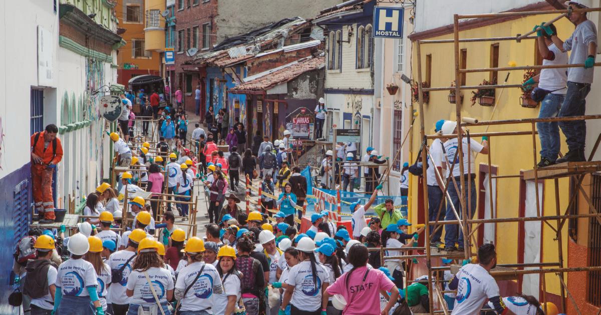 El patrimonio se luce: Día Global de la Comunidad CitiBank 2016, en donde cientos de voluntarios arreglaron las fachadas del casco histórico de la ciudad.