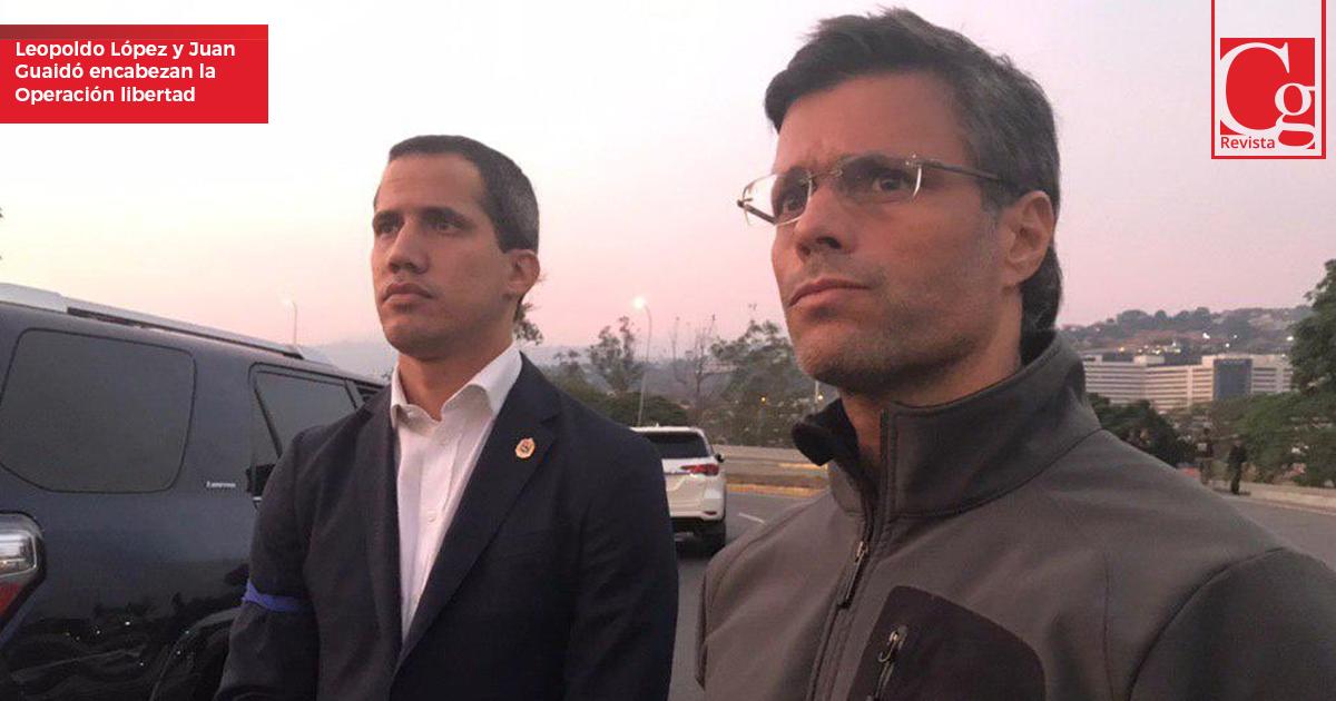 Leopoldo-Lópes-y-Juan-Guaidó-encabezan-la-Operación-libertad
