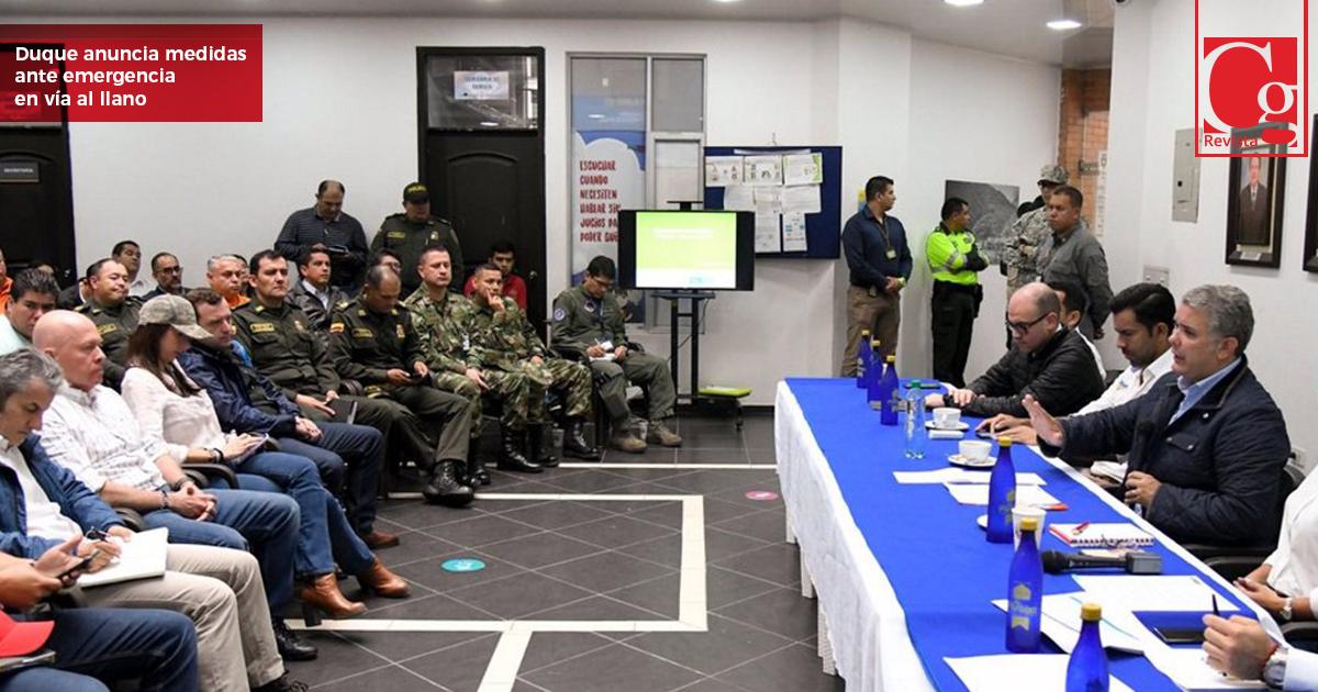 Duque anuncia medidas para enfrentar emergencia por Vía al Llano