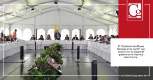 El-Presidente-Iván-Duque-Márquez-en-la-reunión-que-sostuvo-con-su-equipo-de-gobierno-en-la-Hacienda-Hato-Grande.
