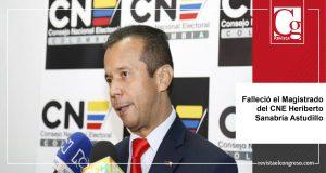 Falleció el Magistrado del CNE Heriberto Sanabria