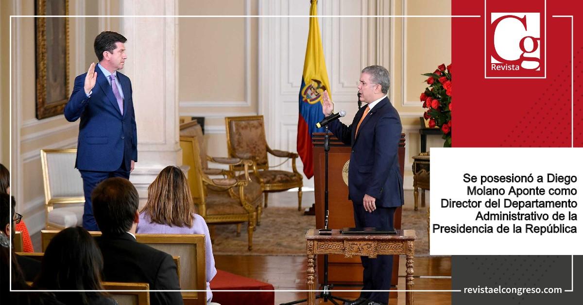 Presidente Duque posesionó a Diego Molano Aponte como Director del Departamento Administrativo de la Presidencia de la República