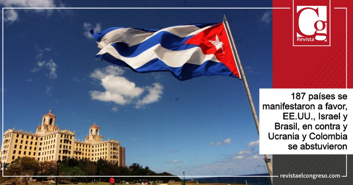 Asamble general de la ONU se pronuncia en contra de bloqueo a Cuba