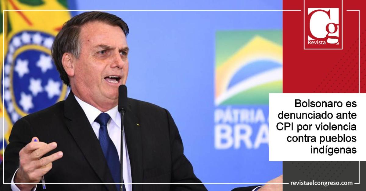 Bolsonaro es denunciado ante CPI por violencia contra pueblos indígenas