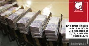 Economía colombiana creció 3.3 DANE