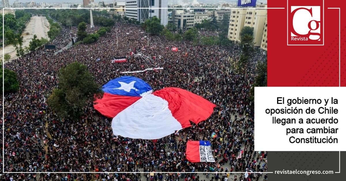 El gobierno y la oposición de Chile llegan a acuerdo para cambiar Constitución