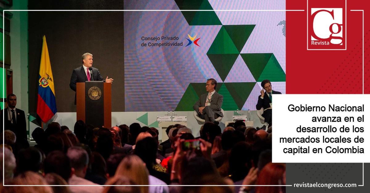 Gobierno Nacional avanza en el desarrollo de los mercados locales de capital en Colombia