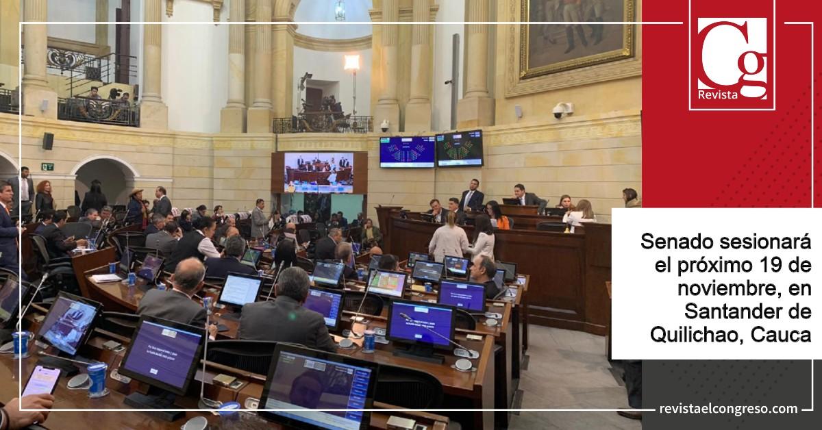 Senado sesionará el próximo 19 de noviembre, en Santander de Quilichao, Cauca