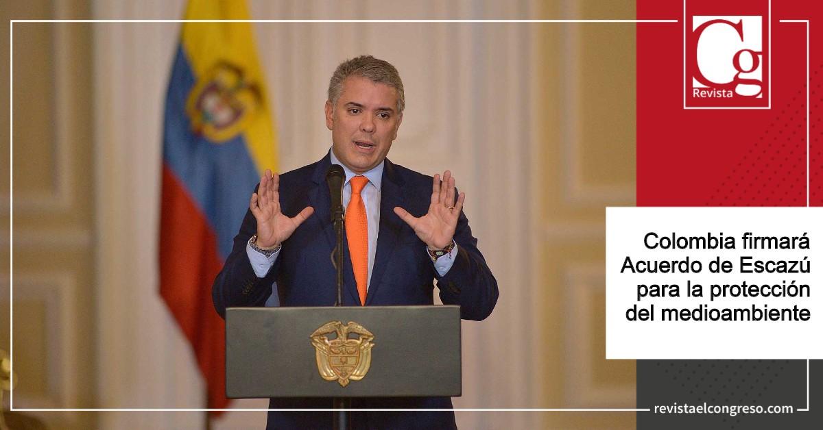 Colombia firmará Acuerdo de Escazú para la protección del medioambiente