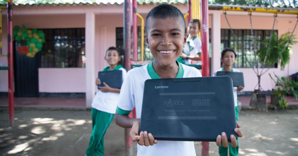 El programa Pionero de Obras por Impuestos en Tame (Arauca), benefició a 4.800 niños y jóvenes del municipio.