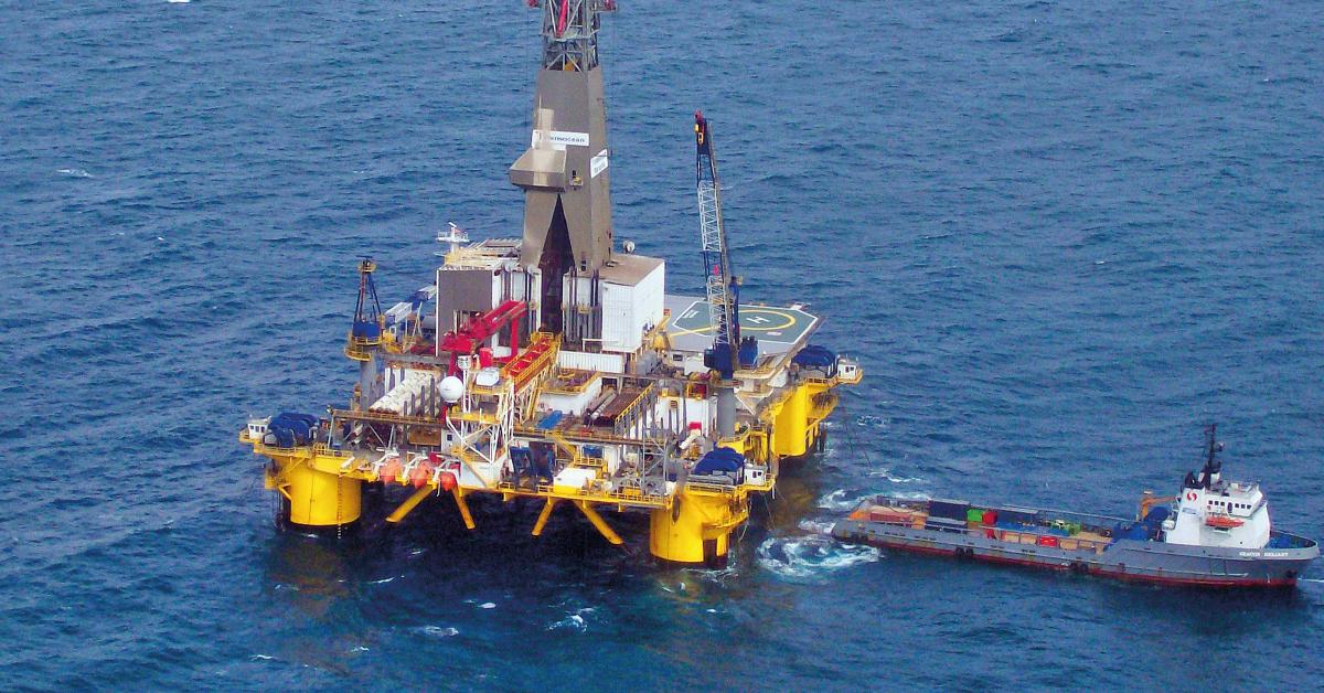 Plataforma de exploración offshore en la costa norte colombiana.