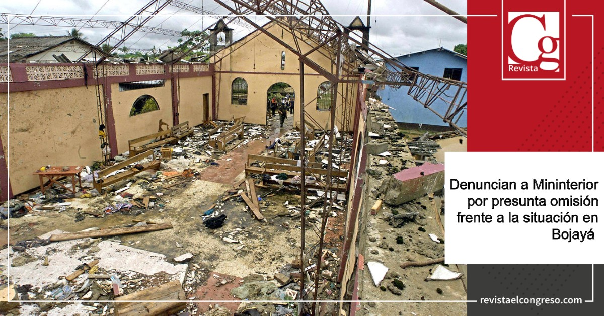 Denuncian a Mininterior por omisión frente a la situación en Bojayá