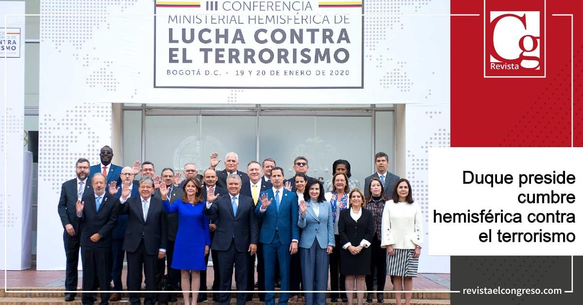 Duque preside cumbre hemisférica contra el terrorismo