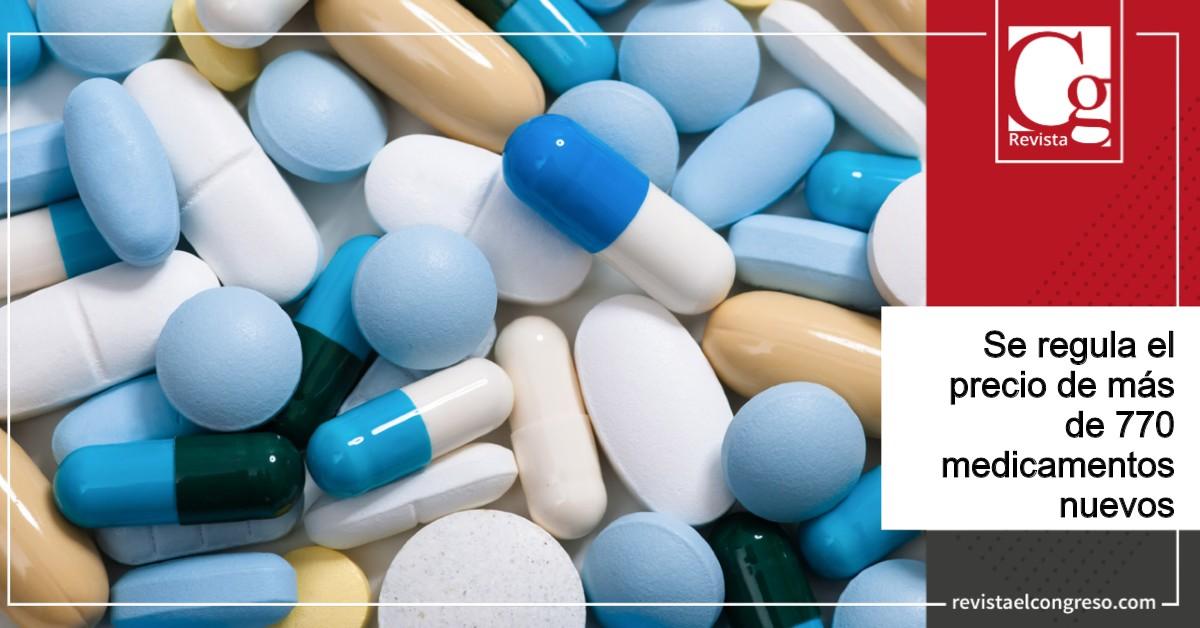 Se regula el precio de más de 770 medicamentos nuevos