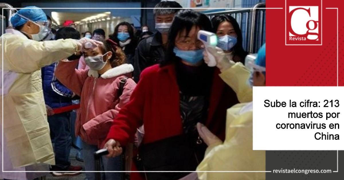 Sube la cifra:213 muertos por coronavirus en China