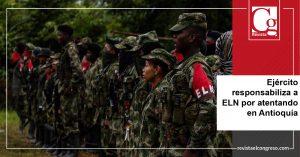 Ejército responsabiliza a ELN por atentando en Antioquia