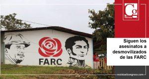 Siguen los asesinatos a desmovilizados de las FARC