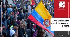 Así avanzan las movilizaciones en Bogotá