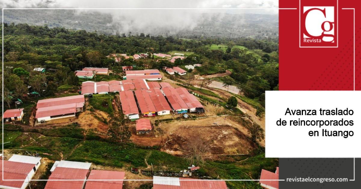 Avanza traslado de reincorporados en Ituango