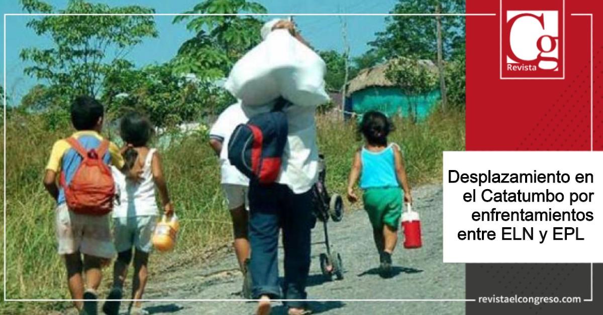 Desplazamiento en el Catatumbo por enfrentamientos entre ELN y EPL