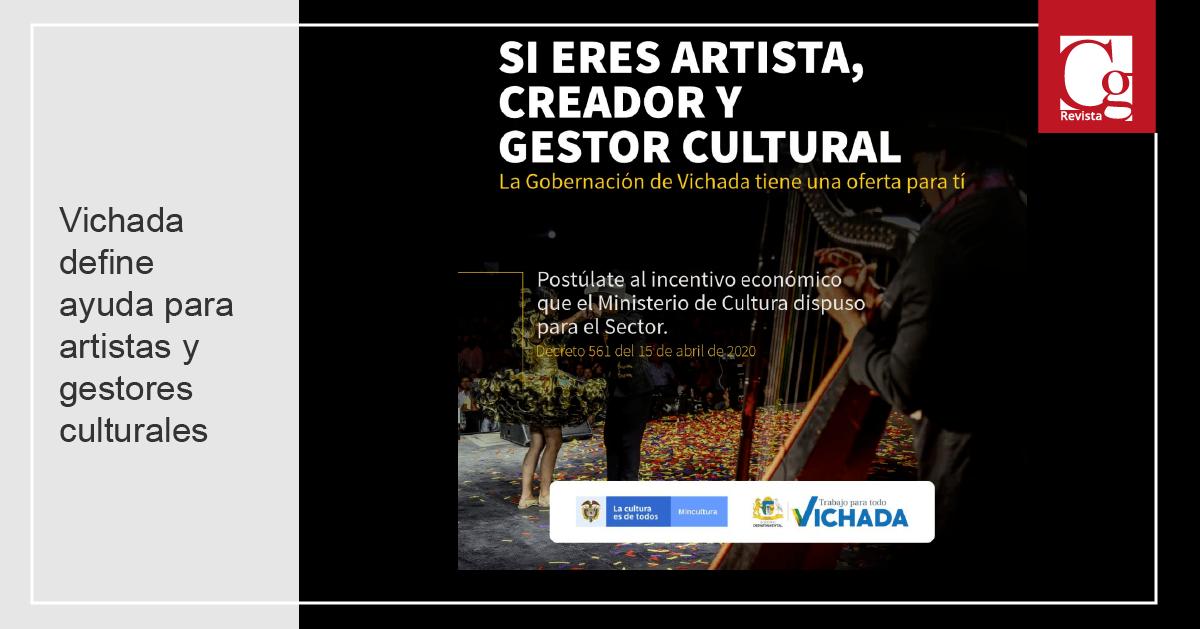 Vichada define ayuda para artistas y gestores culturales