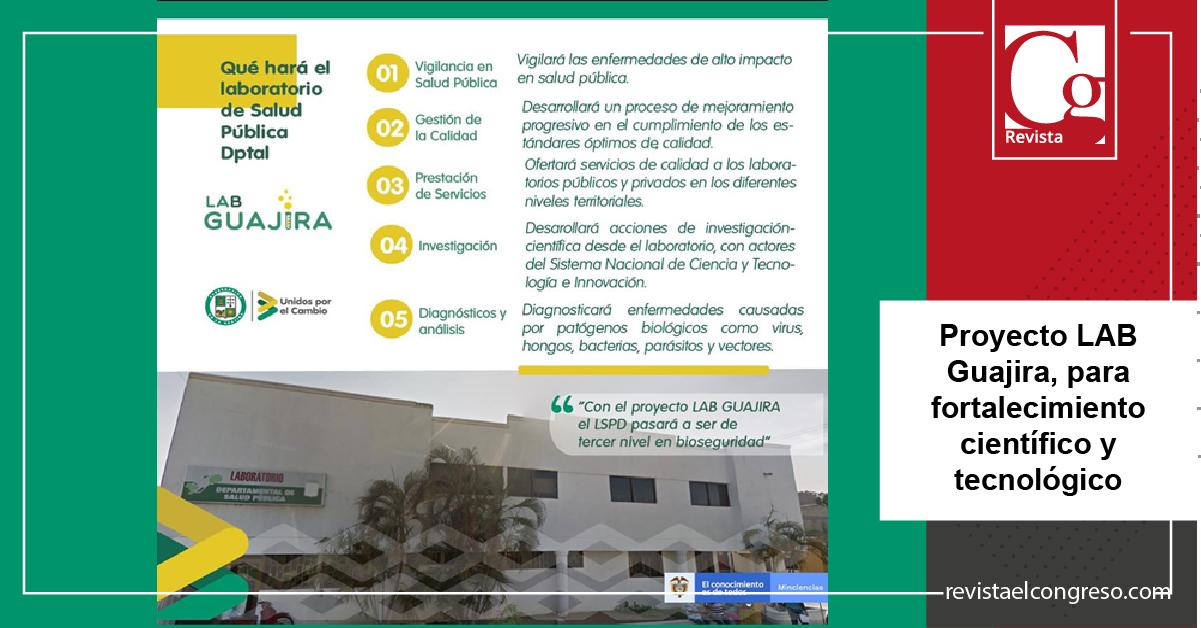 Proyecto LAB Guajira, para fortalecimiento científico y tecnológico