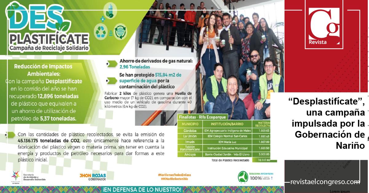 """""""Desplastifícate"""", una campaña impulsada por la Gobernación de Nariño"""