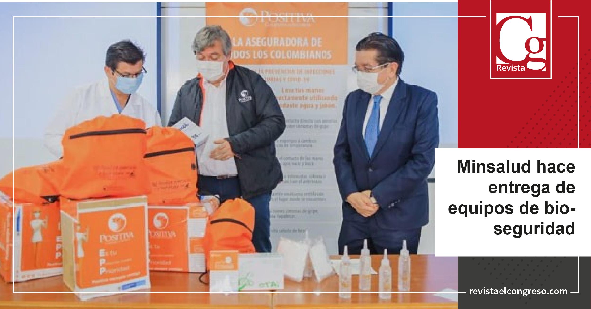 Minsalud entrega equipos de bioseguridad en centros médicos