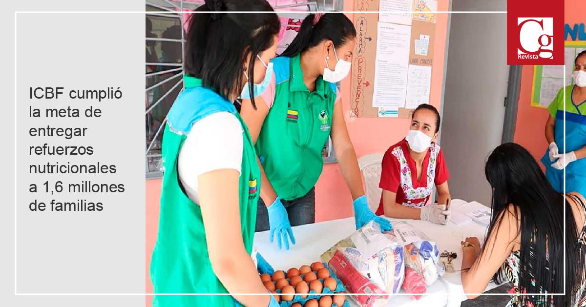 ICBF cumplió la meta de entregar refuerzos nutricionales a 1,6 millones de familias