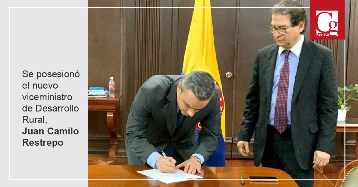 Se posesionó el nuevo viceministro de Desarrollo Rural, Juan Camilo Restrepo