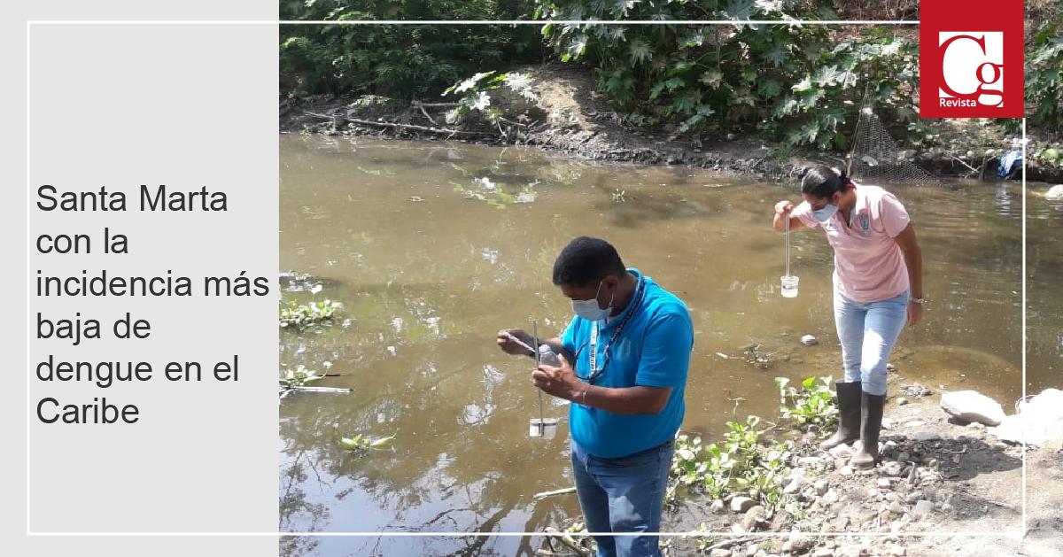 Santa Marta con la incidencia más baja de dengue en el Caribe