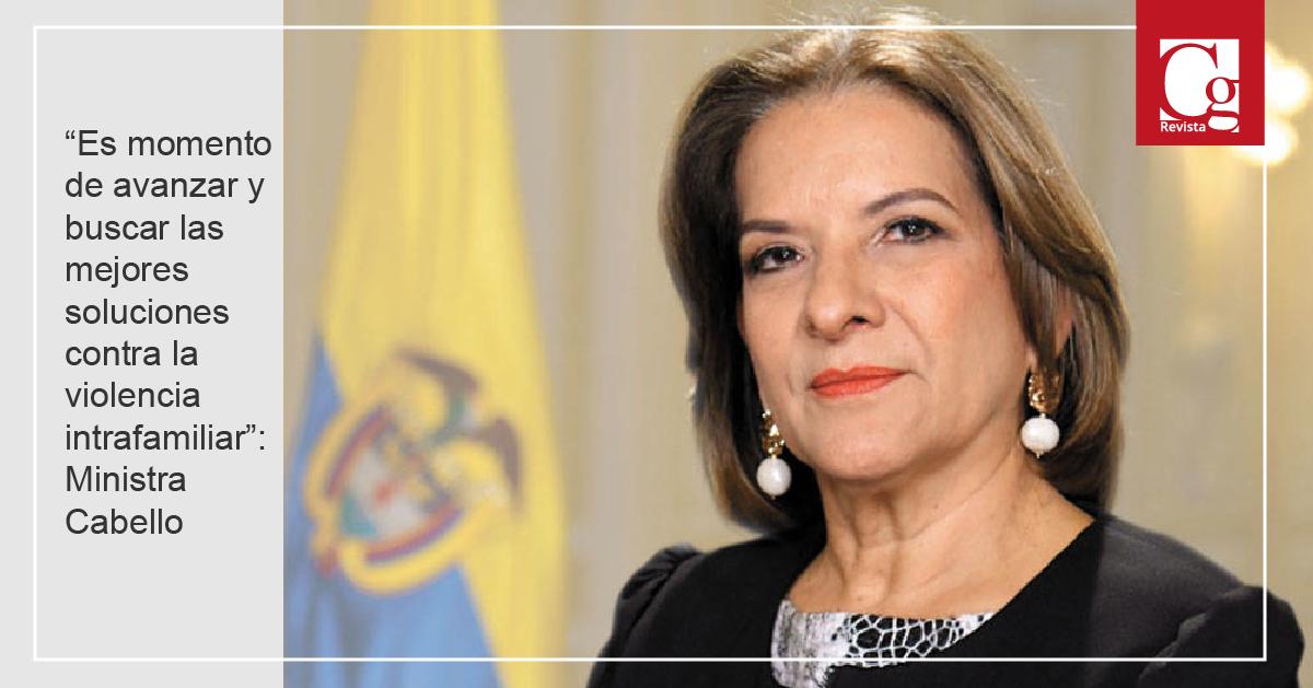 """""""Es momento de avanzar y buscar las mejores soluciones contra la violencia intrafamiliar"""": Ministra Cabello"""