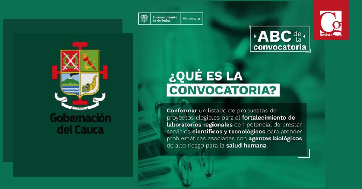 La Gobernación, en articulación con la Universidad del Cauca, así como la Fundación Innovagen, presentaron dos proyectos al OCAD que fueron aprobados para fortalecer las capacidades de tres (3) laboratorios en la región.