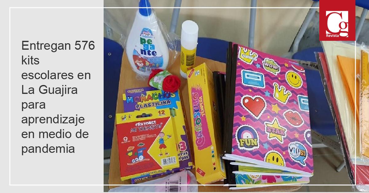 Entregan 576 kits escolares en La Guajira para aprendizaje en medio de pandemia