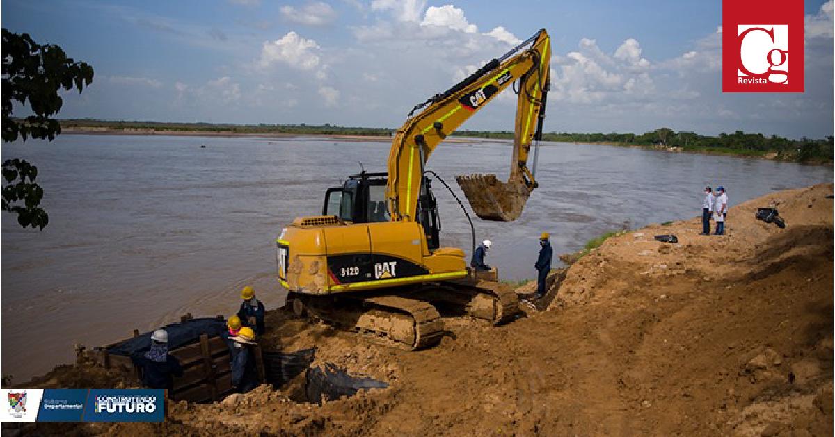 Inspeccionan obras de protección del río Arauca para prevenir inundaciones