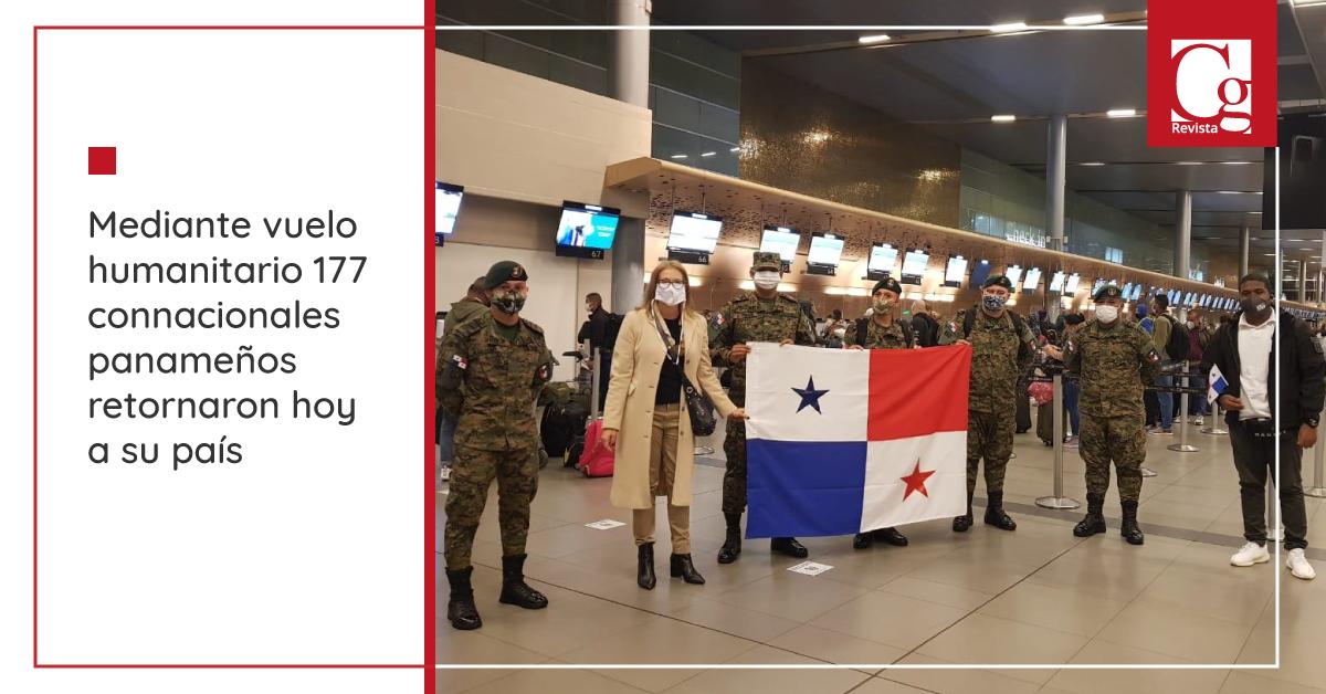 Mediante vuelo humanitario 177 connacionales panameños retornaron hoy a su país