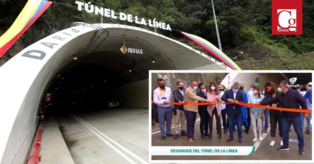 El presidente Iván Duque entrega el Túnel de la Línea